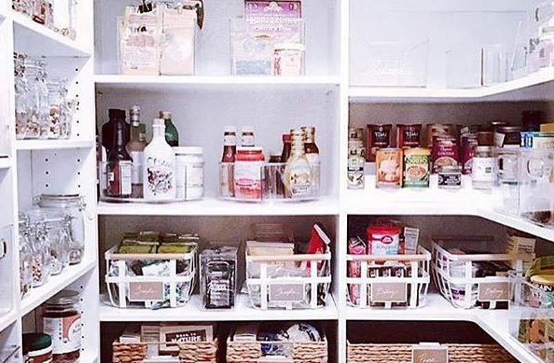 Day 3: Kitchen Food Cupboards