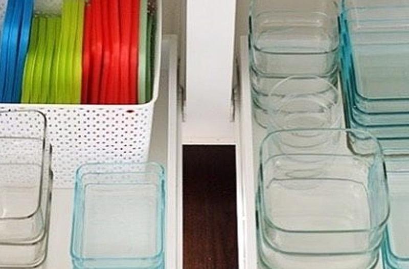 declutter Tupperware