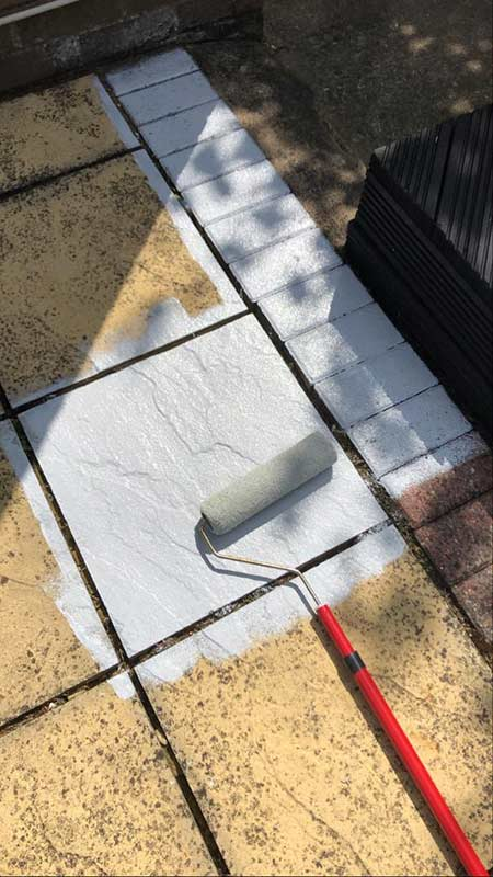 painting the slabs