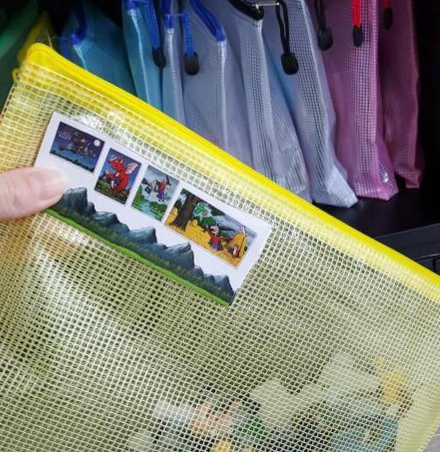 zip bags to help organise